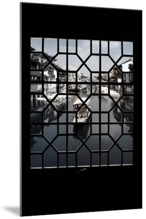 China 10MKm2 Collection - Asian Window - Another Look Series - White Boat-Philippe Hugonnard-Mounted Photographic Print