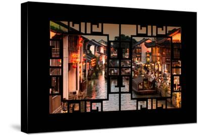China 10MKm2 Collection - Asian Window - Beautiful Shantang water Town-Philippe Hugonnard-Stretched Canvas Print