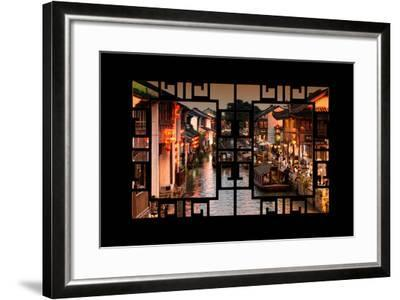 China 10MKm2 Collection - Asian Window - Beautiful Shantang water Town-Philippe Hugonnard-Framed Photographic Print