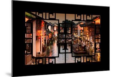 China 10MKm2 Collection - Asian Window - Beautiful Shantang water Town-Philippe Hugonnard-Mounted Photographic Print
