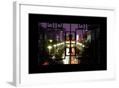 China 10MKm2 Collection - Asian Window - City Night Xi'an-Philippe Hugonnard-Framed Photographic Print
