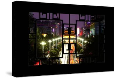 China 10MKm2 Collection - Asian Window - City Night Xi'an-Philippe Hugonnard-Stretched Canvas Print