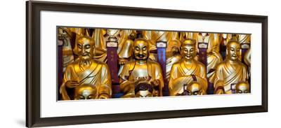 China 10MKm2 Collection - Gold Buddhist Statue in Longhua Temple-Philippe Hugonnard-Framed Photographic Print