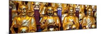 China 10MKm2 Collection - Gold Buddhist Statue in Longhua Temple-Philippe Hugonnard-Mounted Photographic Print