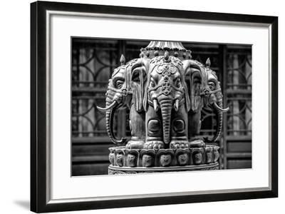 China 10MKm2 Collection - Buddhist Temple - Elephant Statue-Philippe Hugonnard-Framed Photographic Print