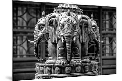 China 10MKm2 Collection - Buddhist Temple - Elephant Statue-Philippe Hugonnard-Mounted Photographic Print