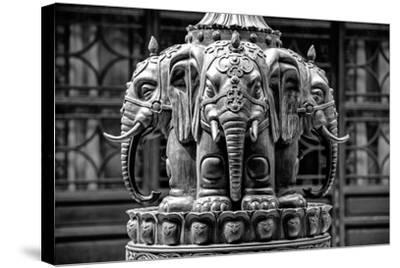 China 10MKm2 Collection - Buddhist Temple - Elephant Statue-Philippe Hugonnard-Stretched Canvas Print