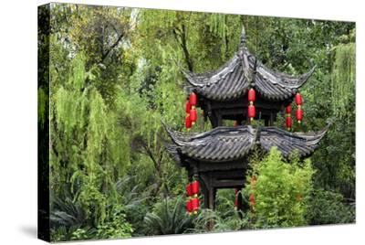 China 10MKm2 Collection - Chinese Pavilion in Garden-Philippe Hugonnard-Stretched Canvas Print