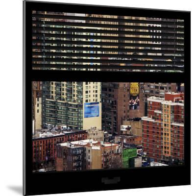 View from the Window - Hell's Kitchen - NYC-Philippe Hugonnard-Mounted Photographic Print