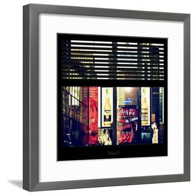 View from the Window - Times Square Buildings-Philippe Hugonnard-Framed Photographic Print