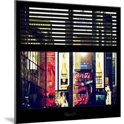 View from the Window - Times Square Buildings-Philippe Hugonnard-Mounted Photographic Print