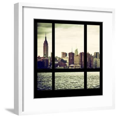View from the Window - Skyline - Manhattan-Philippe Hugonnard-Framed Photographic Print