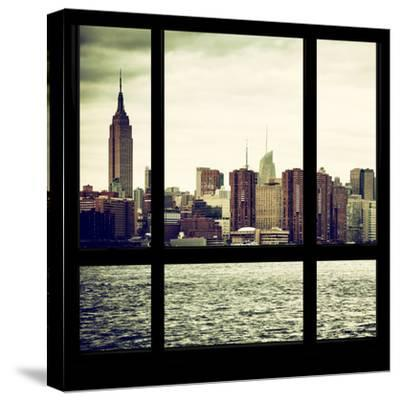 View from the Window - Skyline - Manhattan-Philippe Hugonnard-Stretched Canvas Print
