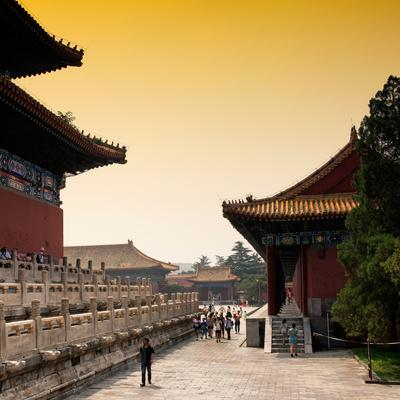 China 10MKm2 Collection - Forbidden City at sunset-Philippe Hugonnard-Framed Photographic Print