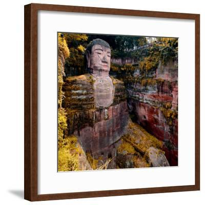 China 10MKm2 Collection - Giant Buddha of Leshan in Autumn-Philippe Hugonnard-Framed Photographic Print