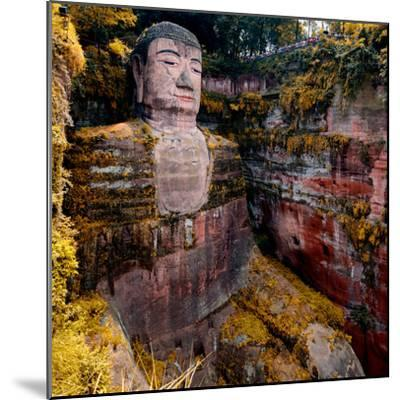 China 10MKm2 Collection - Giant Buddha of Leshan in Autumn-Philippe Hugonnard-Mounted Photographic Print