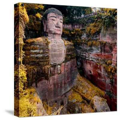 China 10MKm2 Collection - Giant Buddha of Leshan in Autumn-Philippe Hugonnard-Stretched Canvas Print