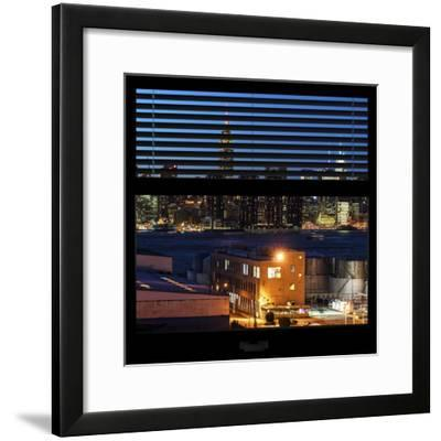 View from the Window - Night Skyline - New York City-Philippe Hugonnard-Framed Photographic Print