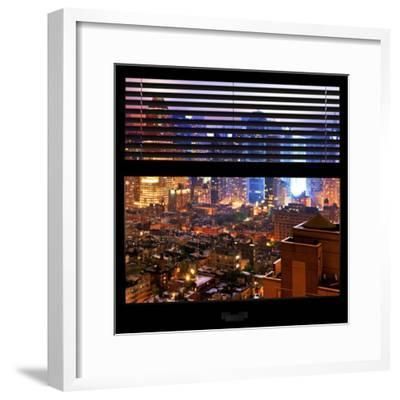 View from the Window - Hell's Kitchen Night - Manhattan-Philippe Hugonnard-Framed Photographic Print