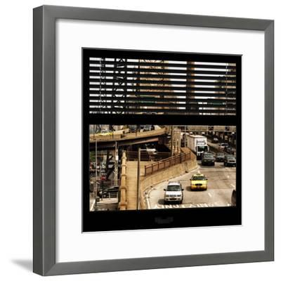 View from the Window - Queensboro Bridge Traffic-Philippe Hugonnard-Framed Photographic Print