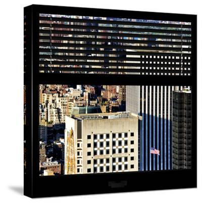 View from the Window - Upper Manhattan Building-Philippe Hugonnard-Stretched Canvas Print