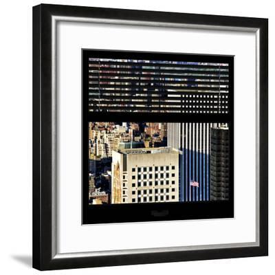 View from the Window - Upper Manhattan Building-Philippe Hugonnard-Framed Photographic Print