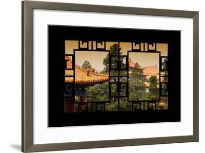 China 10MKm2 Collection - Asian Window - Roofs of Forbidden City at Sunset - Beijing-Philippe Hugonnard-Framed Photographic Print