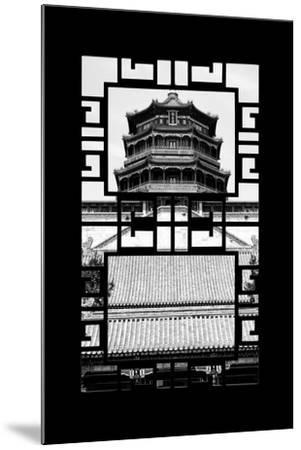 China 10MKm2 Collection - Asian Window - Summer Palace Temple-Philippe Hugonnard-Mounted Photographic Print