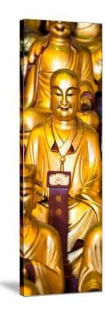 China 10MKm2 Collection - Gold Buddhist Statue in Longhua Temple-Philippe Hugonnard-Stretched Canvas Print