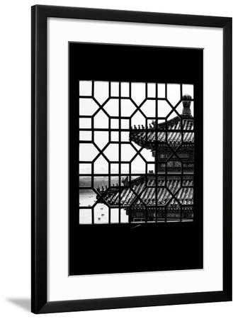 China 10MKm2 Collection - Asian Window - Summer Palace Temple-Philippe Hugonnard-Framed Photographic Print