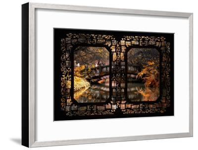 China 10MKm2 Collection - Asian Window - Romantic Bridge in Autumn-Philippe Hugonnard-Framed Photographic Print