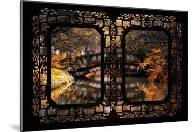China 10MKm2 Collection - Asian Window - Romantic Bridge in Autumn-Philippe Hugonnard-Mounted Photographic Print