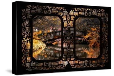 China 10MKm2 Collection - Asian Window - Romantic Bridge in Autumn-Philippe Hugonnard-Stretched Canvas Print