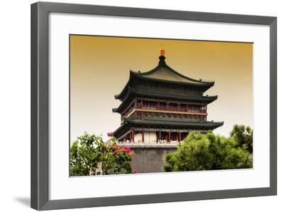 China 10MKm2 Collection - Bell Tower 14th Century-Philippe Hugonnard-Framed Photographic Print