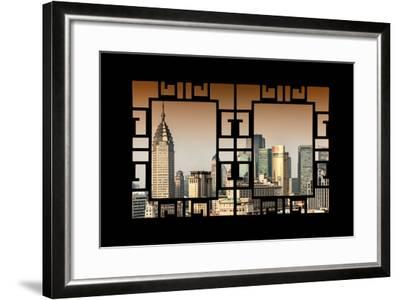 China 10MKm2 Collection - Asian Window - Shanghai Cityscape-Philippe Hugonnard-Framed Photographic Print