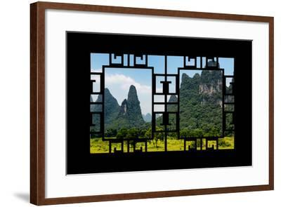 China 10MKm2 Collection - Asian Window - Karst Mountains-Philippe Hugonnard-Framed Photographic Print