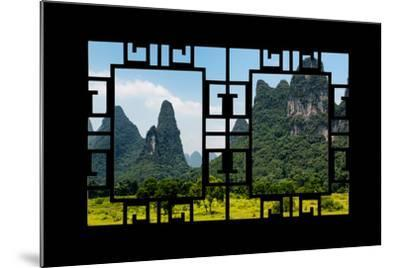 China 10MKm2 Collection - Asian Window - Karst Mountains-Philippe Hugonnard-Mounted Photographic Print
