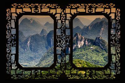 China 10MKm2 Collection - Asian Window - Guilin National Park-Philippe Hugonnard-Framed Photographic Print