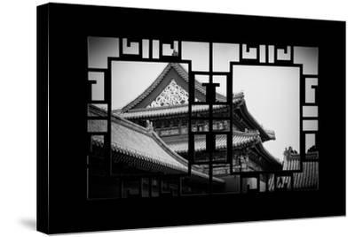 China 10MKm2 Collection - Asian Window - Forbidden City-Philippe Hugonnard-Stretched Canvas Print
