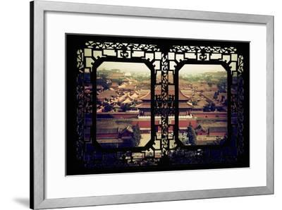 China 10MKm2 Collection - Asian Window - Forbidden City - Beijing-Philippe Hugonnard-Framed Photographic Print