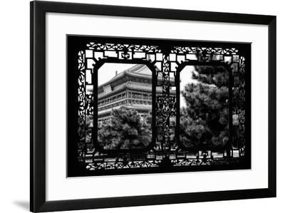 China 10MKm2 Collection - Asian Window - Temple Xi'an-Philippe Hugonnard-Framed Photographic Print