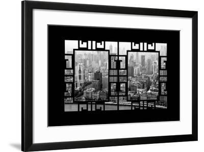 China 10MKm2 Collection - Asian Window - Shanghai View-Philippe Hugonnard-Framed Photographic Print