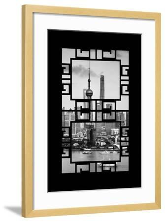 China 10MKm2 Collection - Asian Window - Shanghai Tower-Philippe Hugonnard-Framed Photographic Print
