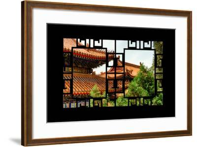 China 10MKm2 Collection - Asian Window - Summer Palace Architecture-Philippe Hugonnard-Framed Photographic Print