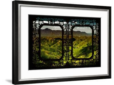 China 10MKm2 Collection - Asian Window - Great Wall of China-Philippe Hugonnard-Framed Photographic Print
