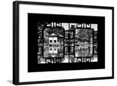 China 10MKm2 Collection - Asian Window - Temple Reflections-Philippe Hugonnard-Framed Photographic Print
