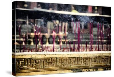 China 10MKm2 Collection - Buddhist Temple with Incense Burning-Philippe Hugonnard-Stretched Canvas Print