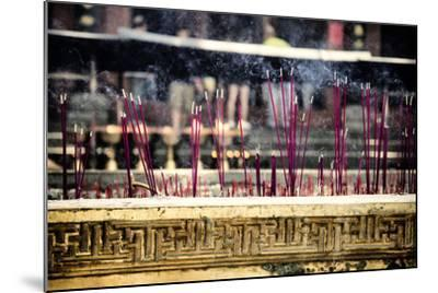 China 10MKm2 Collection - Buddhist Temple with Incense Burning-Philippe Hugonnard-Mounted Photographic Print