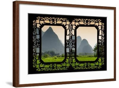 China 10MKm2 Collection - Asian Window - Karst Moutains in Yangshuo-Philippe Hugonnard-Framed Photographic Print