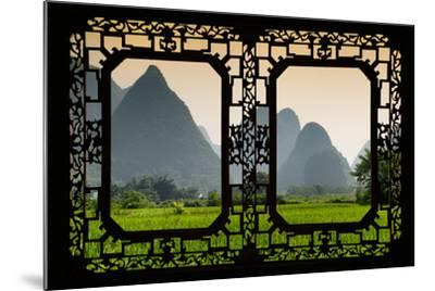 China 10MKm2 Collection - Asian Window - Karst Moutains in Yangshuo-Philippe Hugonnard-Mounted Photographic Print